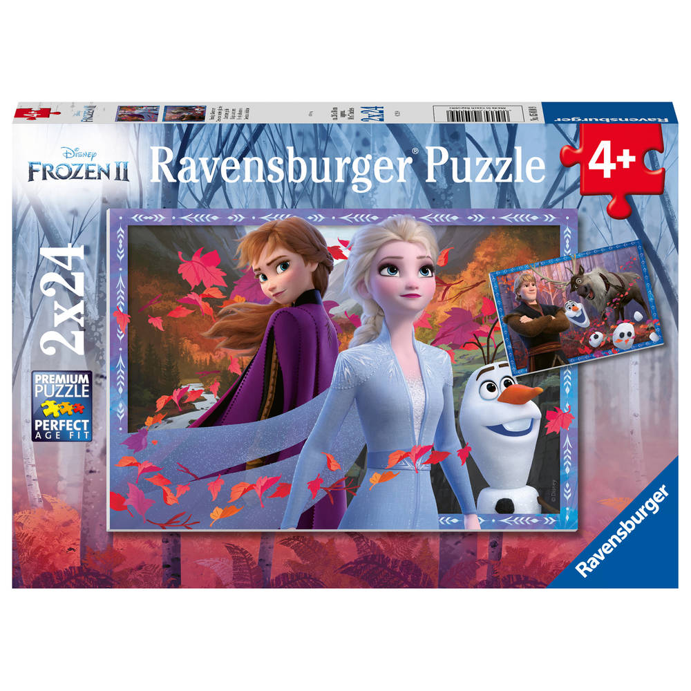 Ravensburger Disney Frozen 2 puzzelset - 2 x 24 stukjes