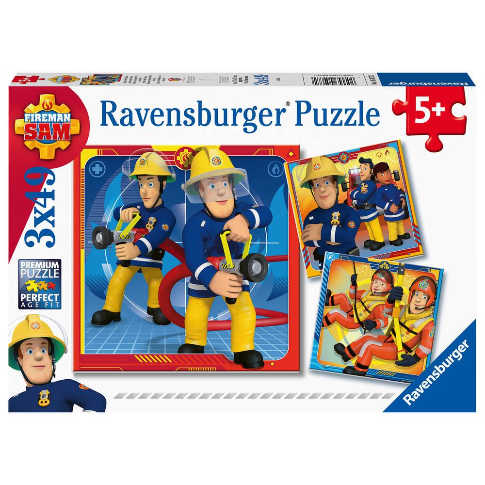 Ravensburger Brandweerman Sam puzzelset Onze held Sam - 3 x 49 stukjes