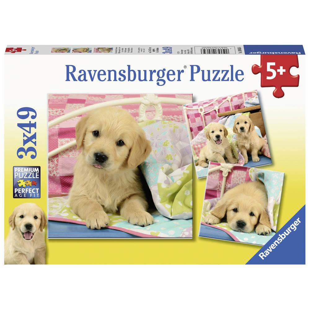 Ravensburger puzzelset schattige hondjes - 3 x 49 stukjes