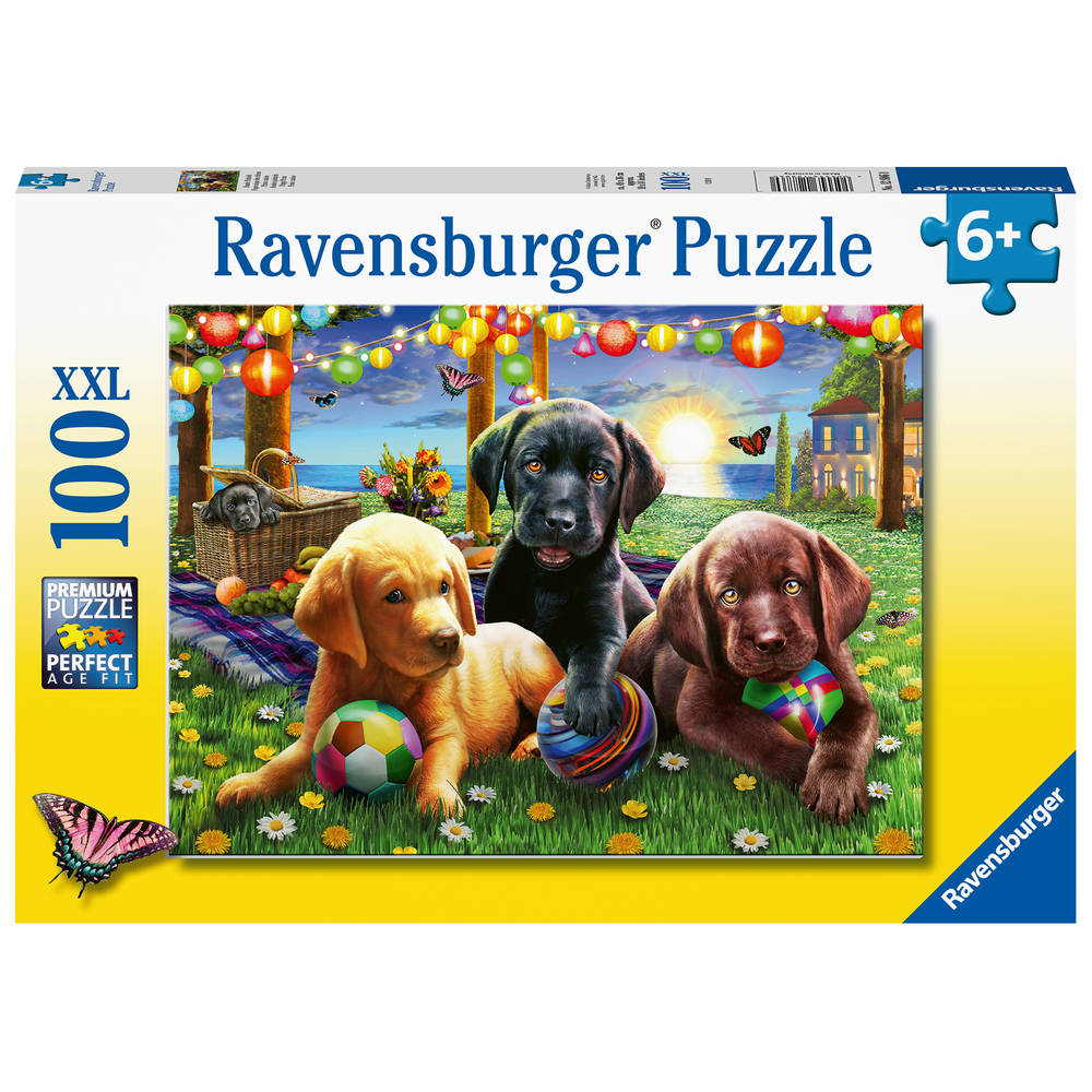 Ravensburger XXL puzzel honden picknick - 100 stukjes