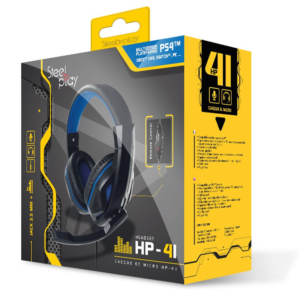 Steelplay HP-41 gaming headset - zwart