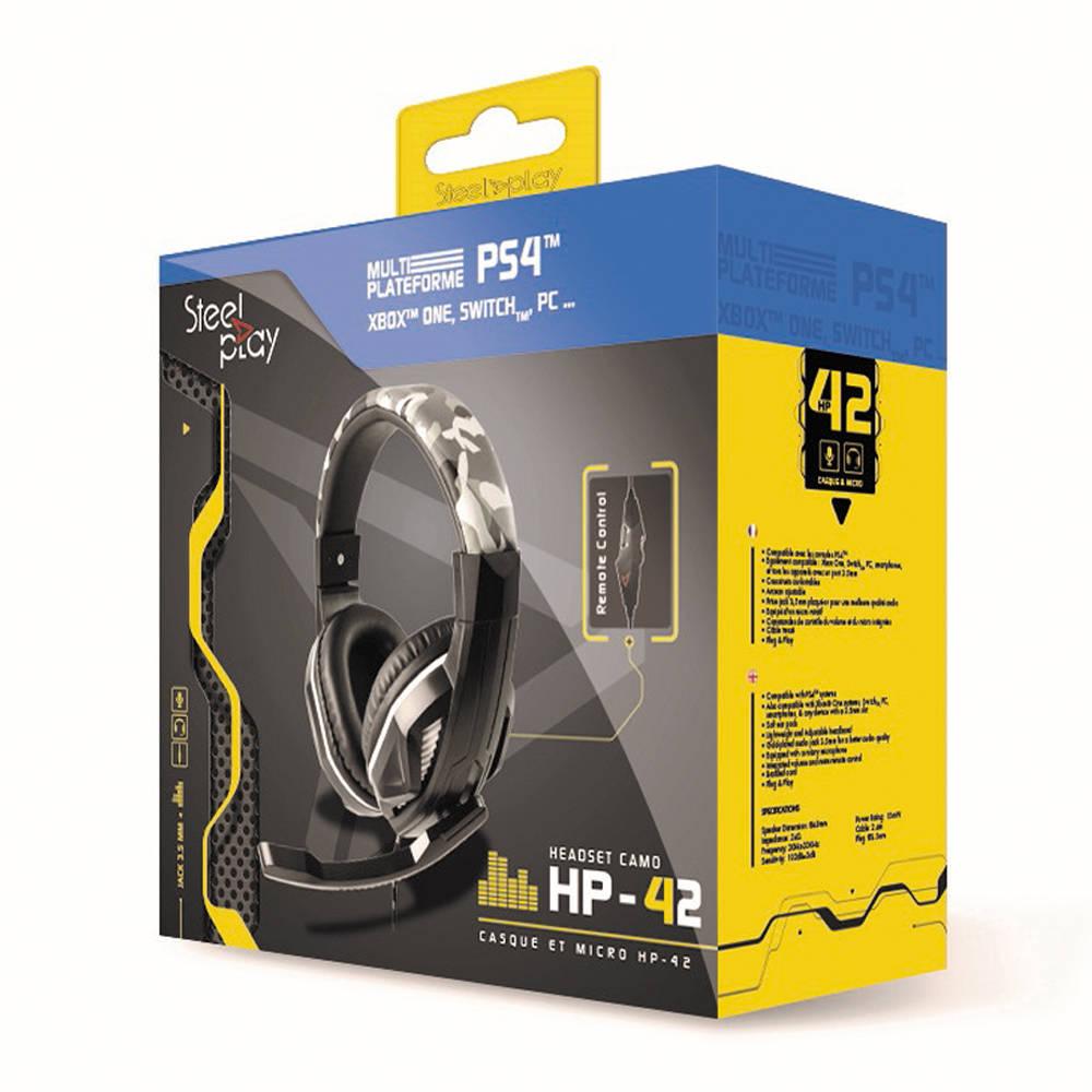 Steelplay HP-42 gaming headset - ice camo