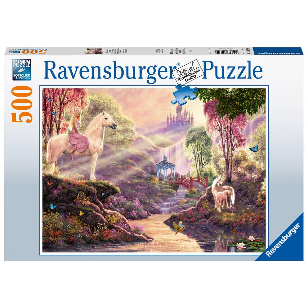 Ravensburger puzzel sprookjesachtige idylle bij het meer - 500 stukjes