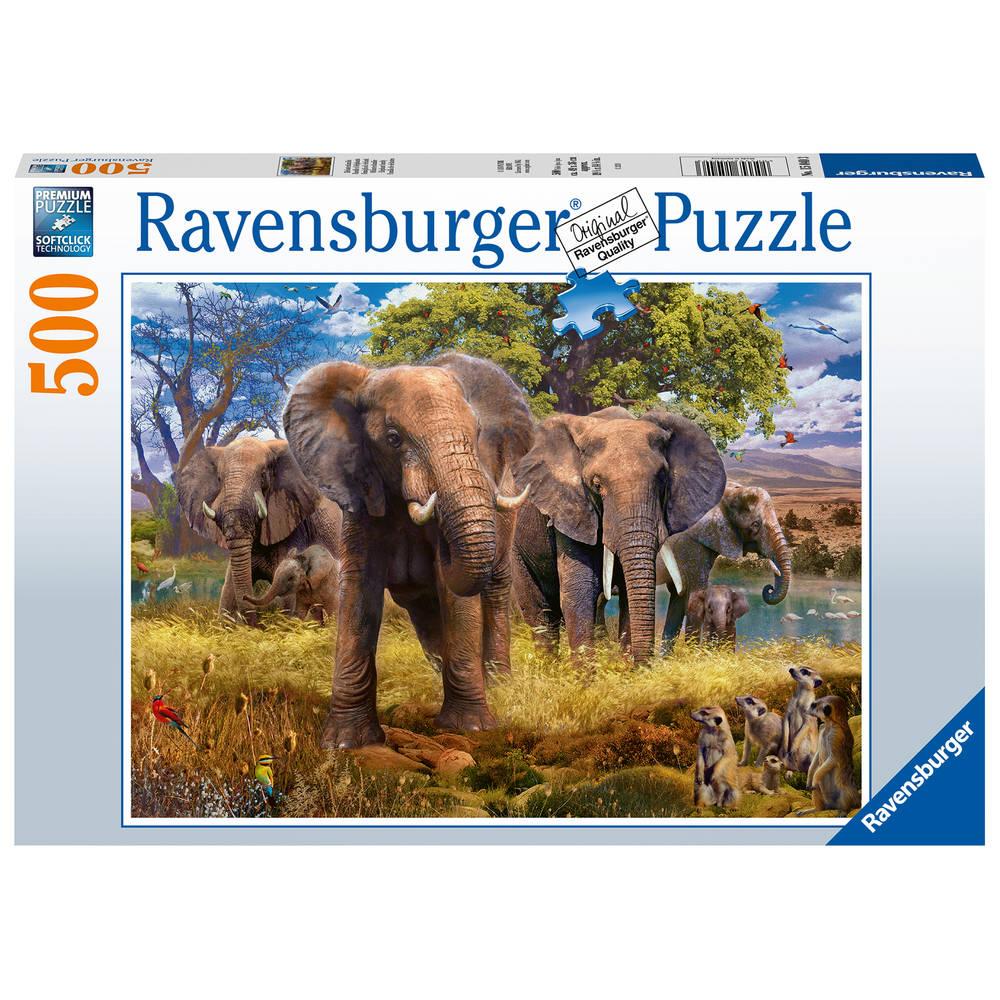 Ravensburger puzzel olifantenfamilie - 500 stukjes