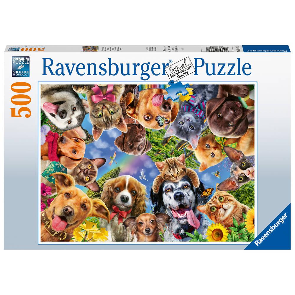Ravensburger puzzel dieren selfie - 500 stukjes