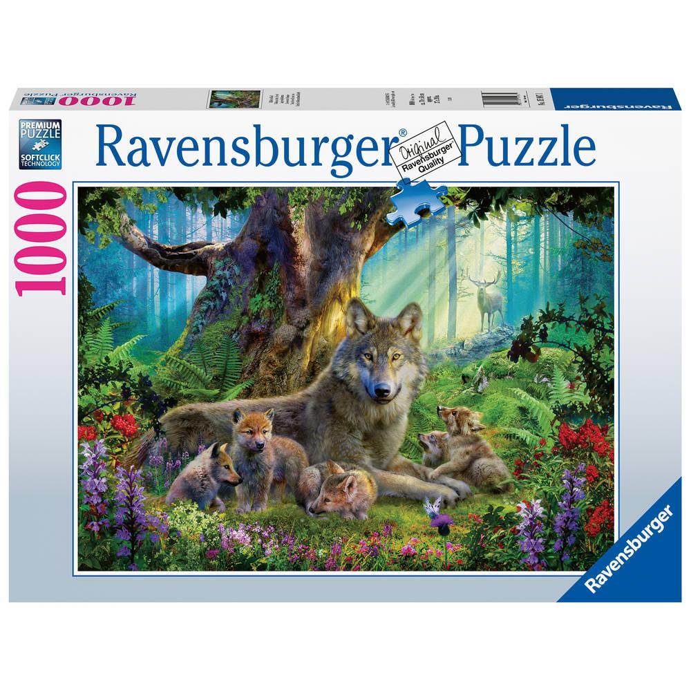 Ravensburger puzzel familie wolf in het bos - 1000 stukjes
