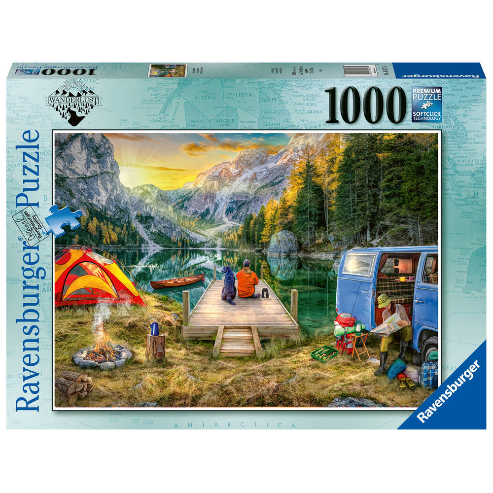 Ravensburger puzzel Calm Campside - 1000 stukjes