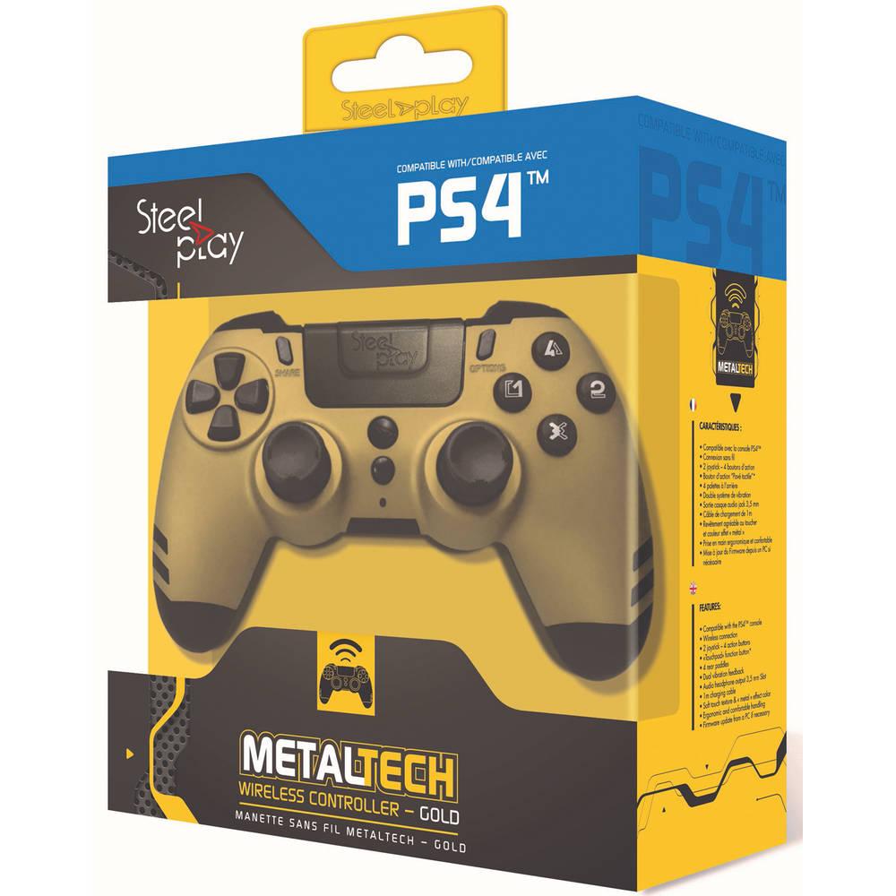 Steelplay MetalTech draadloze controller - goud