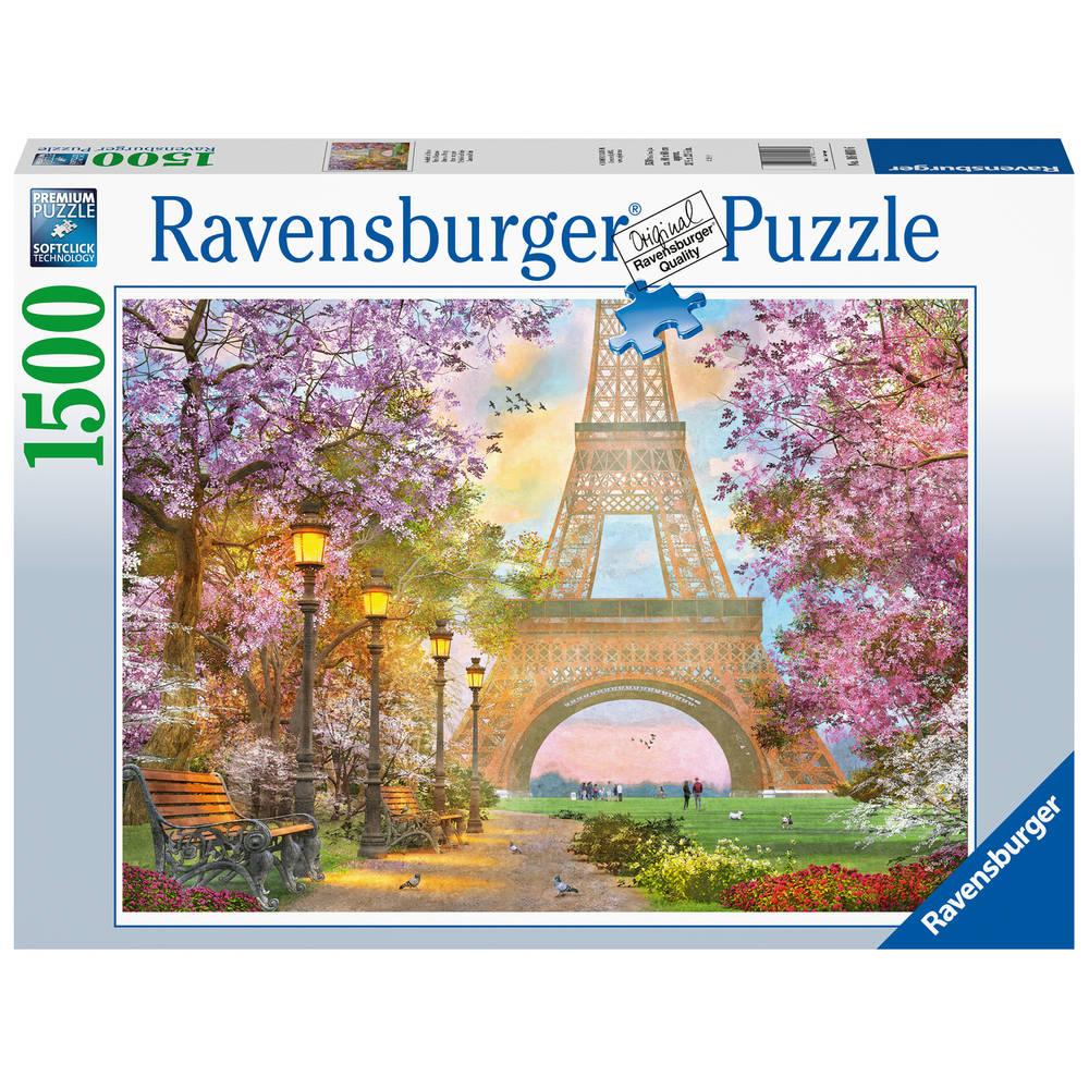 Ravensburger puzzel verliefd in Parijs - 1500 stukjes