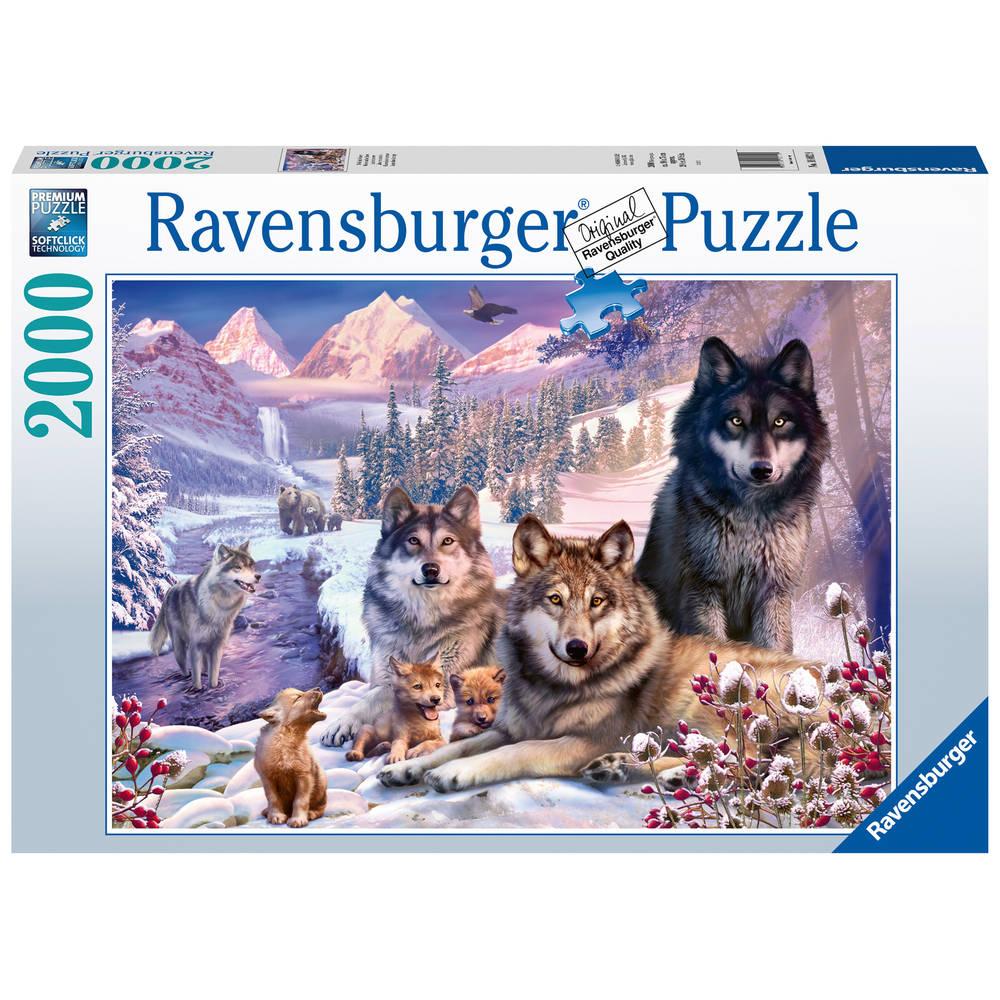 Ravensburger puzzel wolven in de sneeuw - 2000 stukjes
