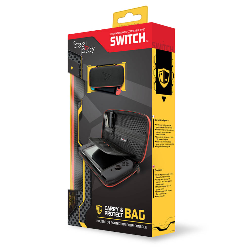 Nintendo Switch Steelplay beschermhoes - zwart