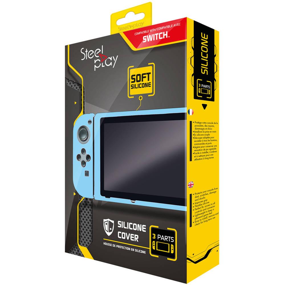 Steelplay Nintendo Switch siliconen beschermhoes - blauw