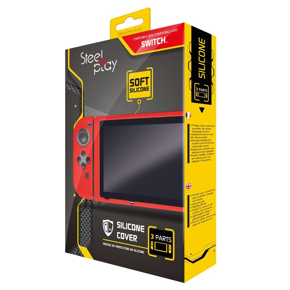 Steelplay Nintendo Switch siliconen beschermhoes - rood