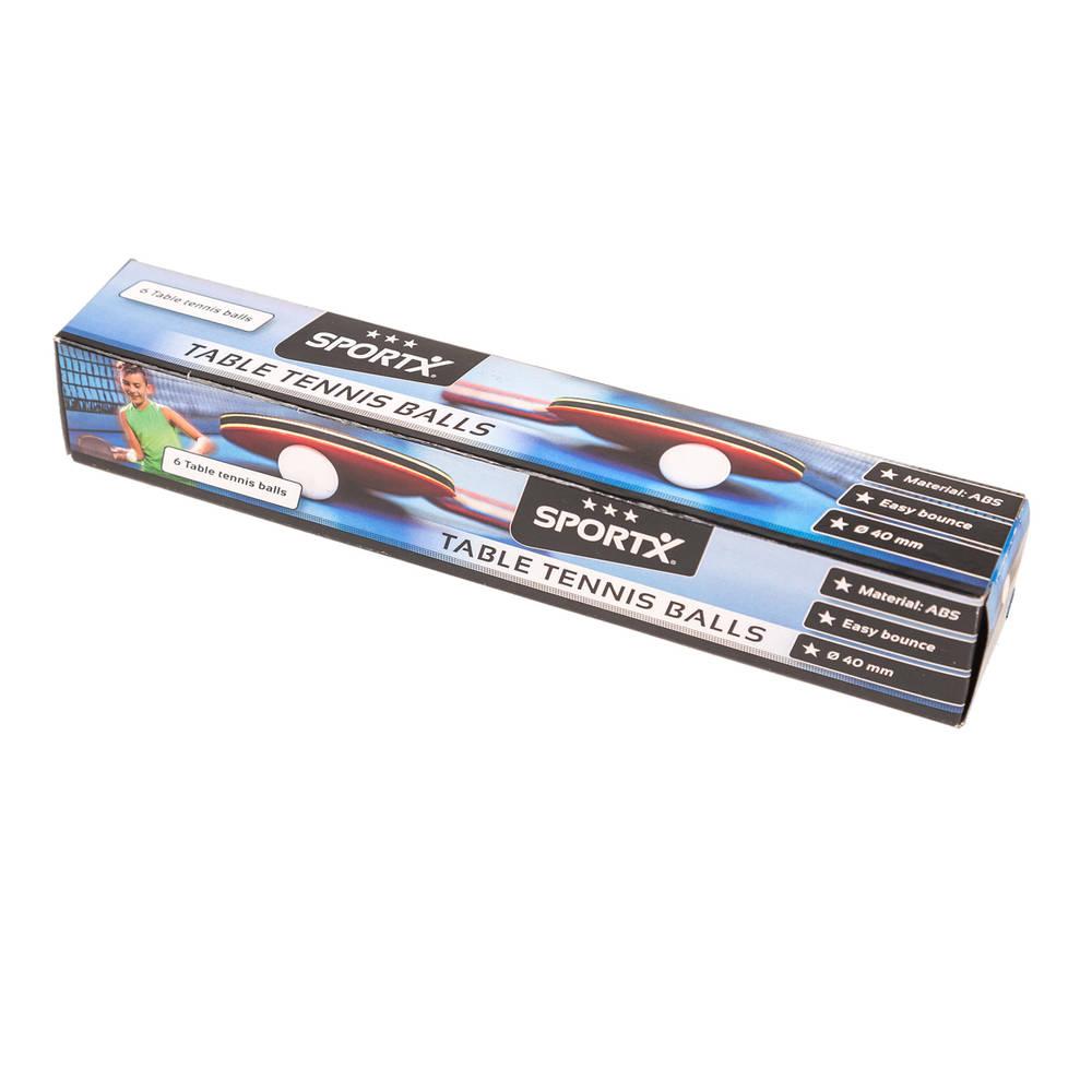 SportX tafeltennisballen in doos - 6 stuks