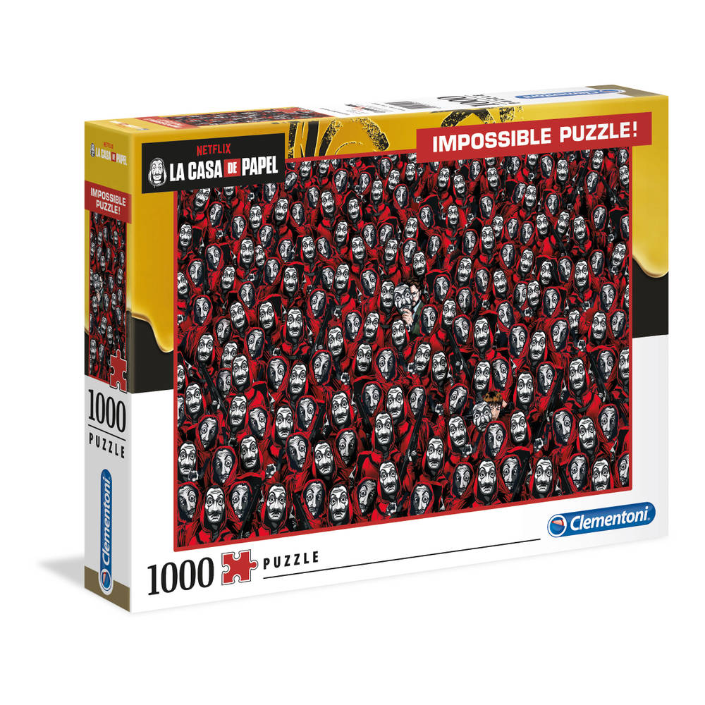 Clementoni Impossible puzzel La Casa de Papel - 1000 stukjes