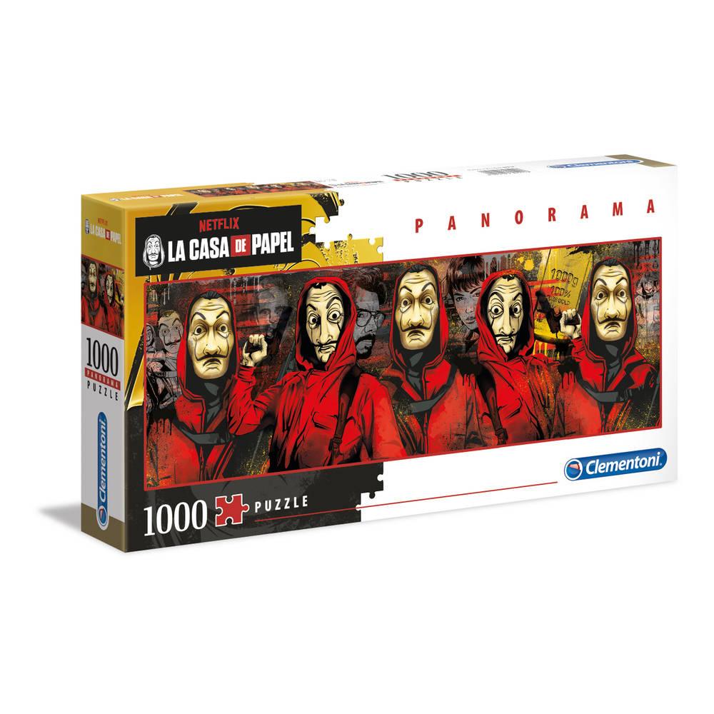 Clementoni panorama puzzel La Casa de Papel - 1000 stukjes