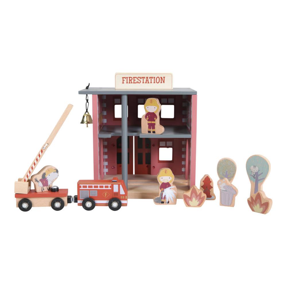 Little Dutch Little Railway Collection brandweerkazerne