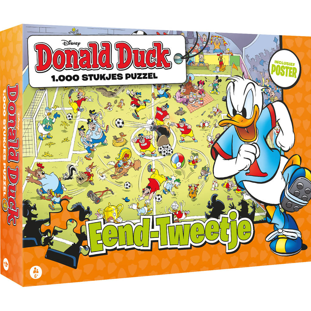 Donald Duck puzzel eend-tweetje - 1000 stukjes