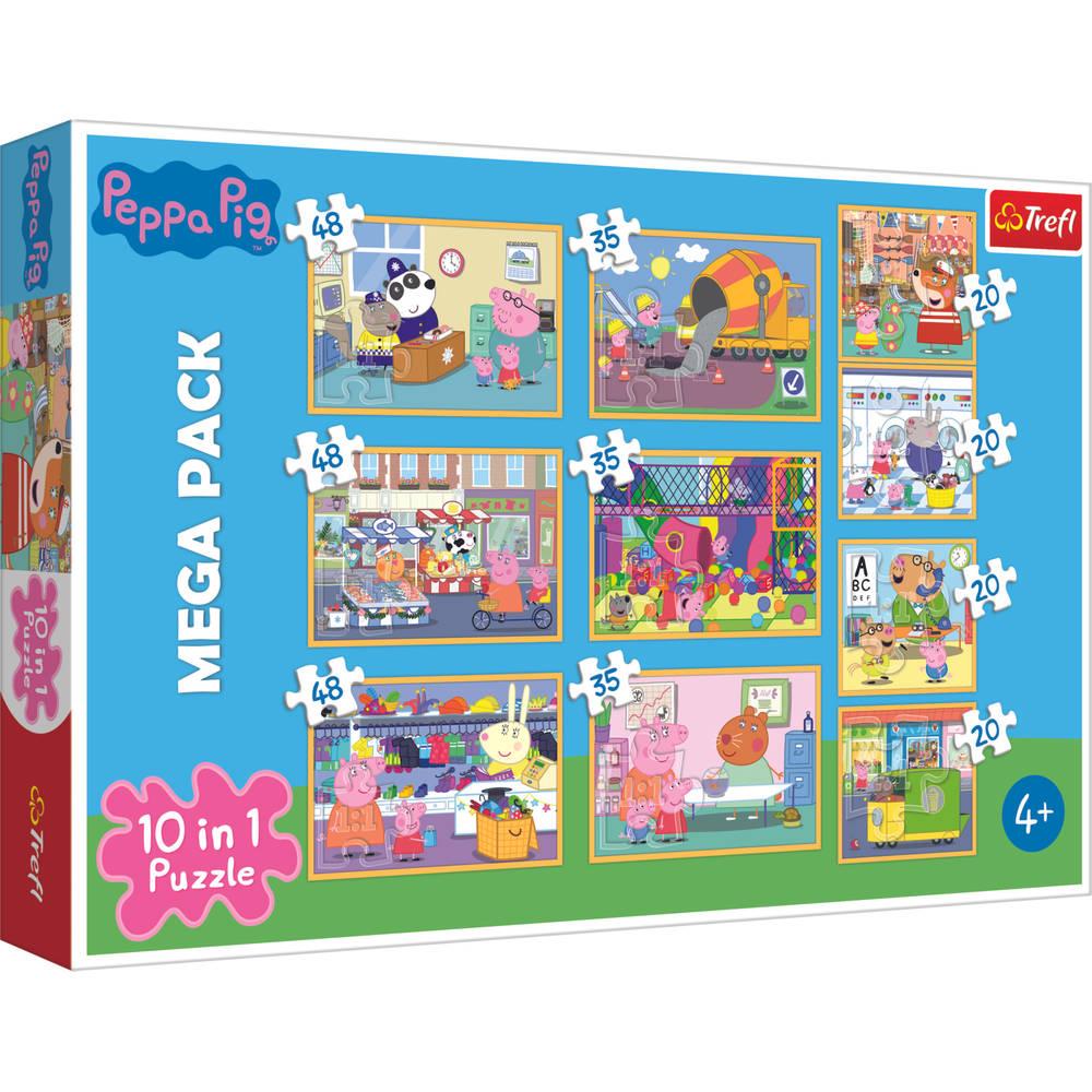 Trefl Peppa Pig 10-in-1 puzzelset - 20 + 35 + 48 stukjes