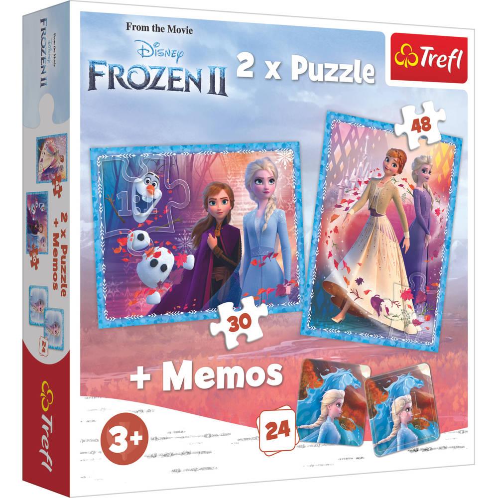Trefl Frozen 2 3-in-1 set puzzels + memo - 30 + 48 stukjes