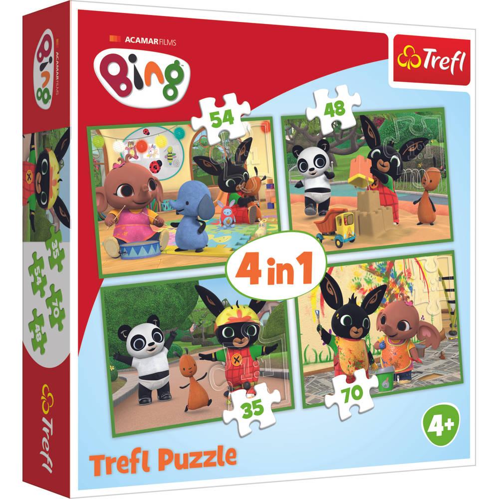 Trefl Bing 4-in-1 puzzelset - 35 + 48 + 54 + 70 stukjes
