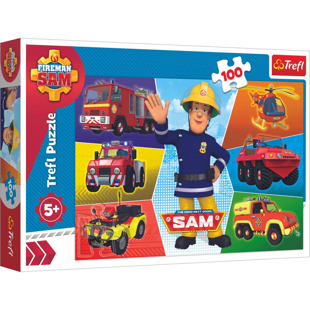 Trefl Brandweerman Sams puzzel voertuigen - 100 stukjes