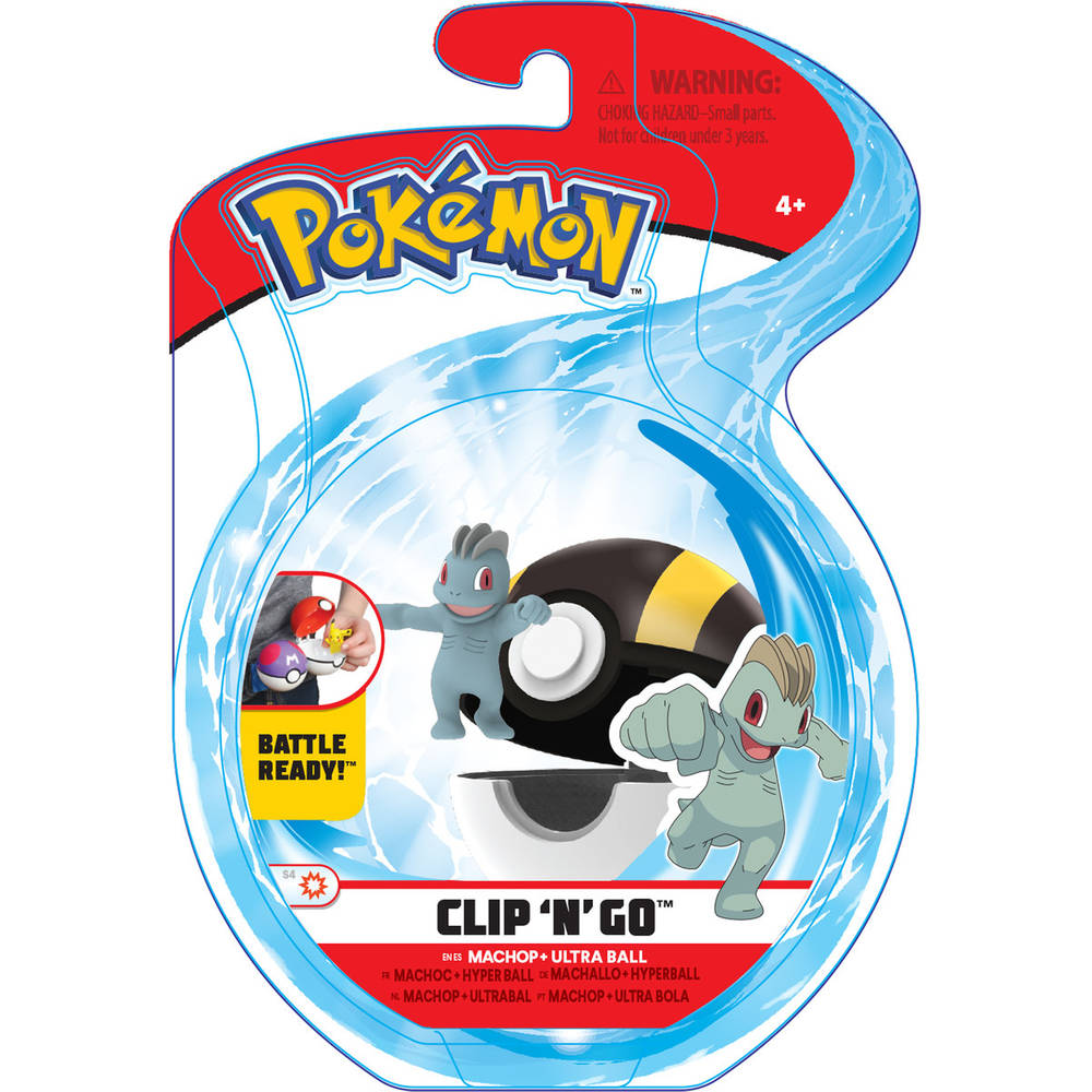 Pokémon Clip 'N' Go Wave 6 Machop en Ultra Ball