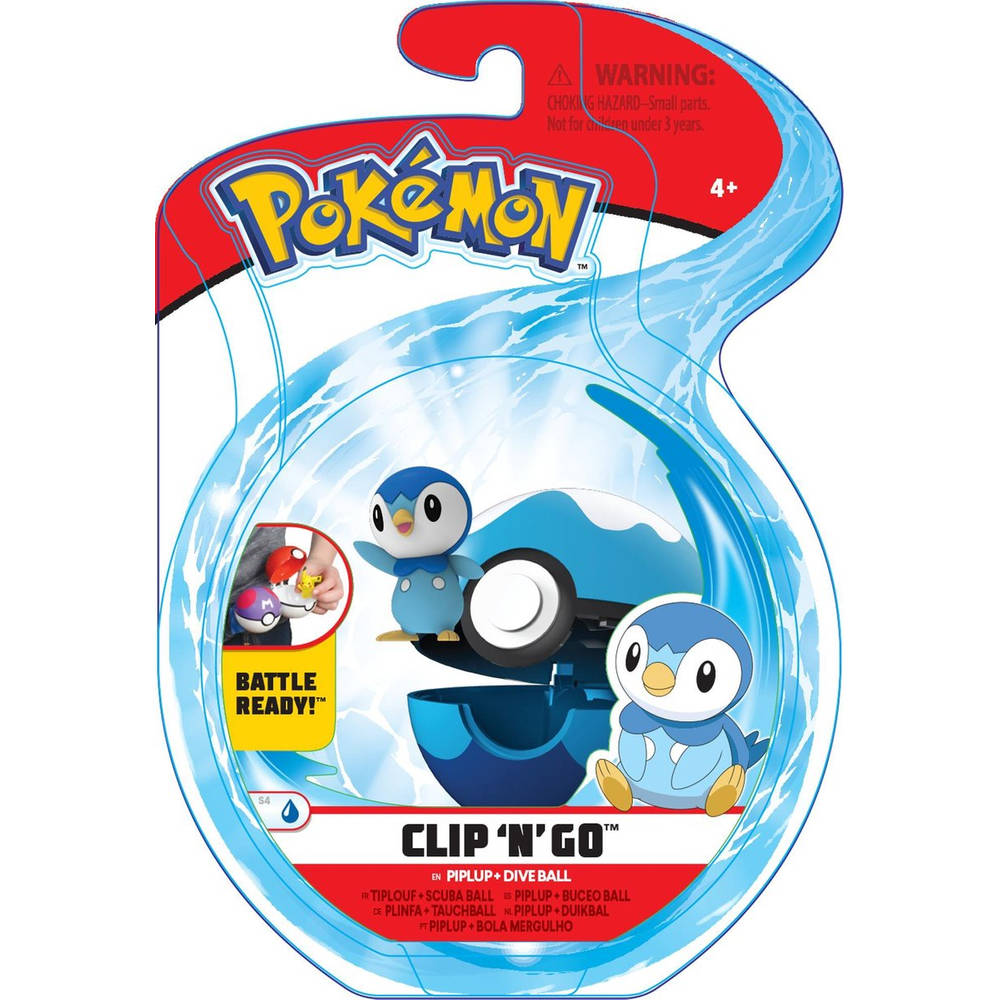 Pokémon Clip 'N' Go Wave 6 Piplup en Dive Ball