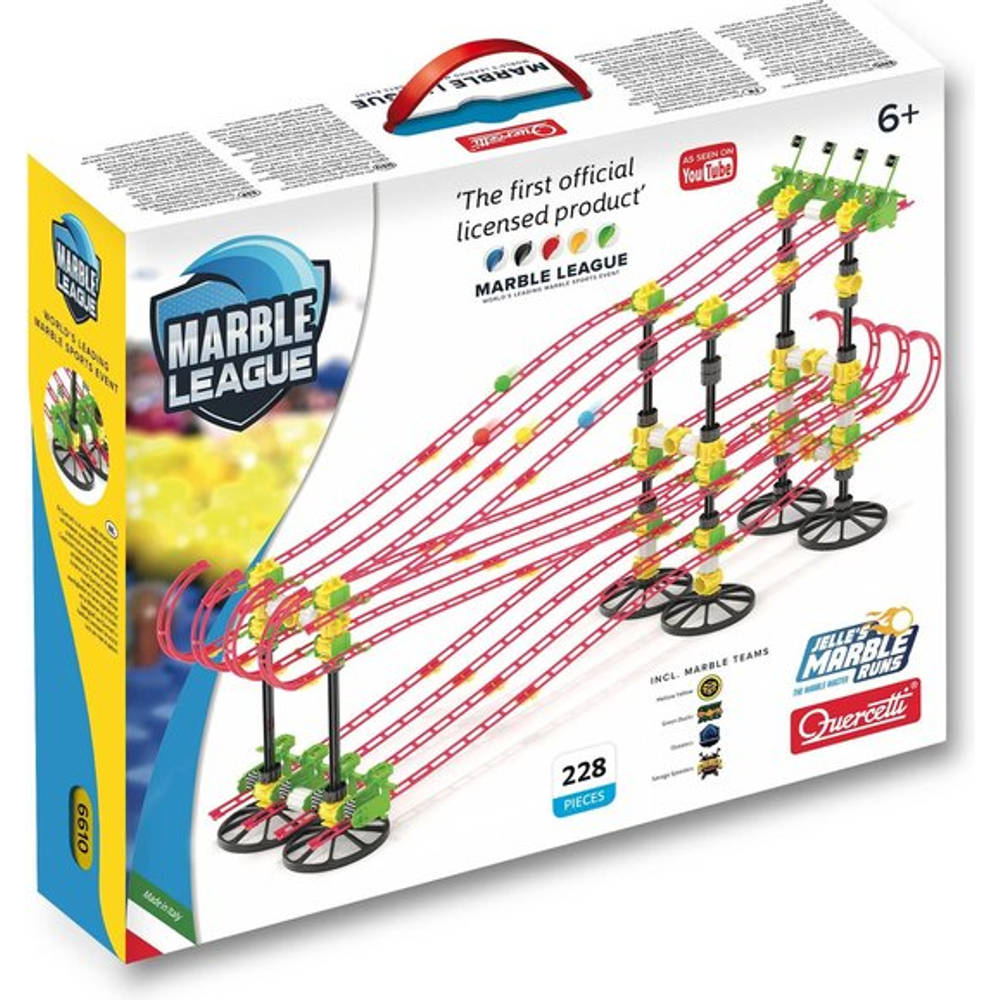 Quercetti Jelle's Marble Run knikkerbaan Marble League 228-delig