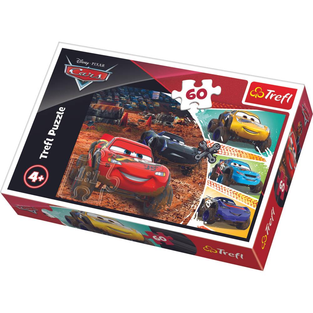 Trefl Disney Cars 3 puzzel Bliksem McQueen en zijn vrienden - 60 stukjes