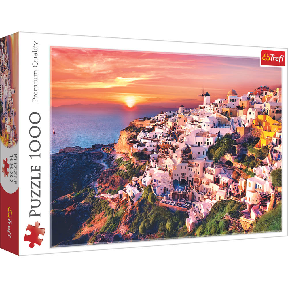 Trefl puzzel zonsondergang in Santorini - 1000 stukjes