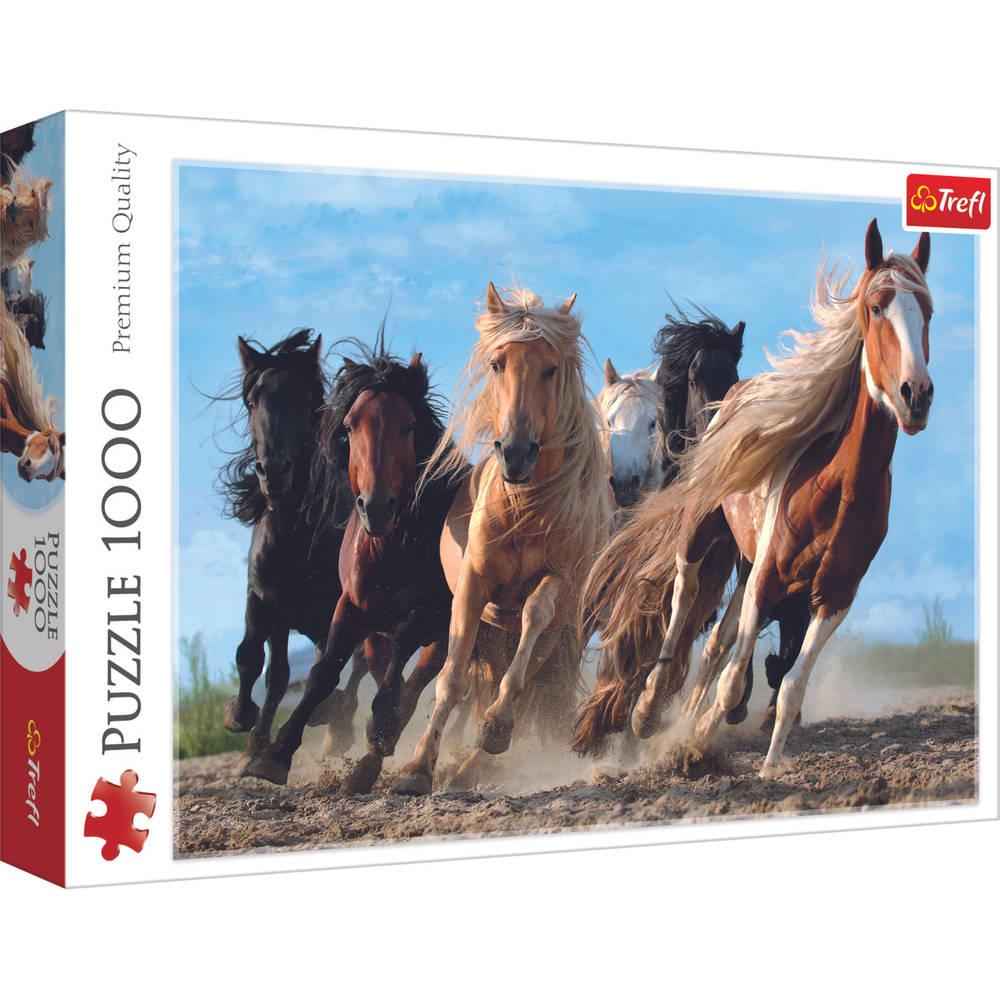 Trefl puzzel galopperende paarden - 1000 stukjes