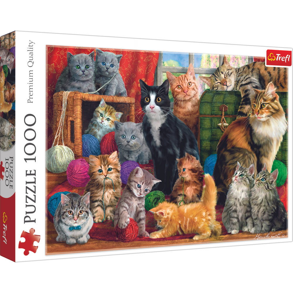 Trefl puzzel kattenbijeenkomst - 1000 stukjes