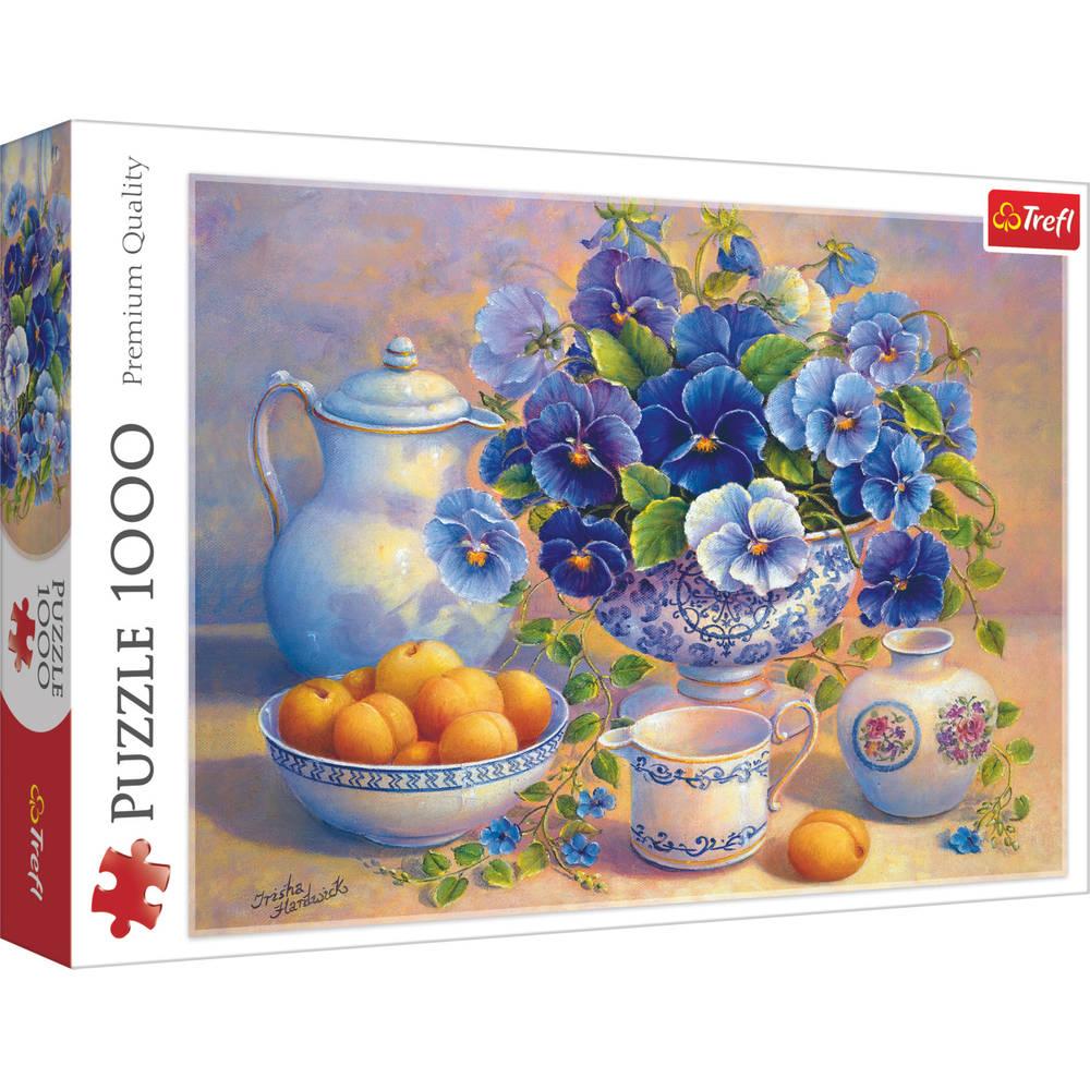 Trefl puzzel blauw boeket - 1000 stukjes
