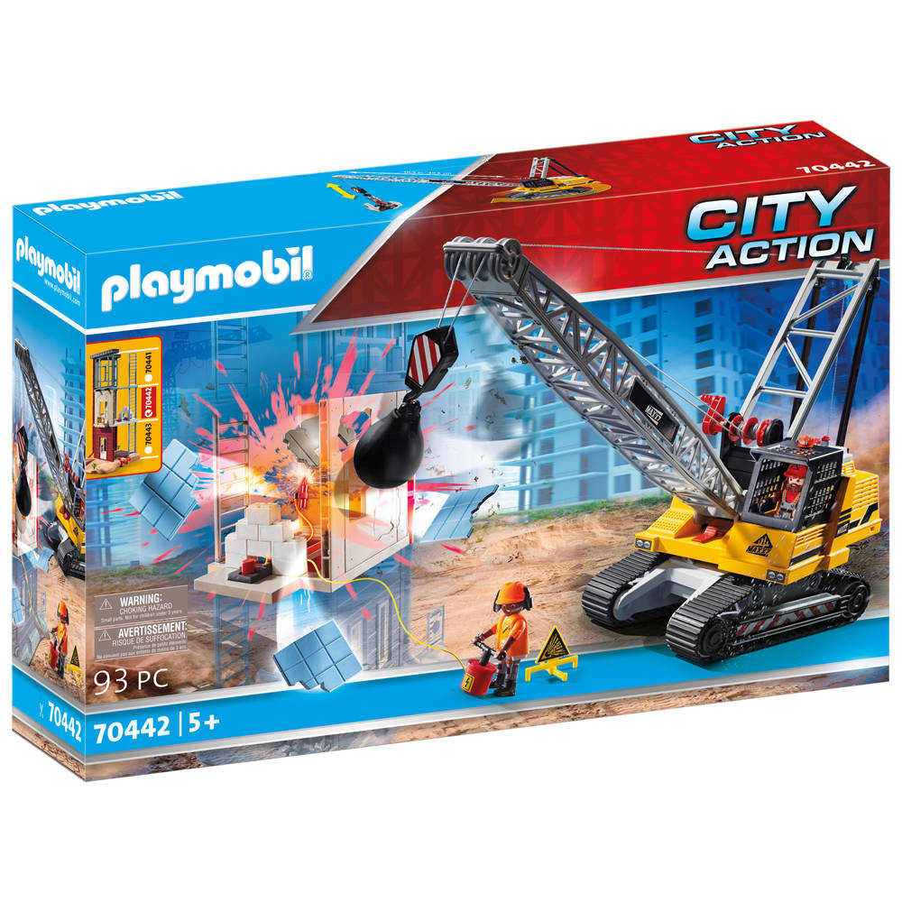 PLAYMOBIL City Action kabelgraafmachine met bouwonderdeel 70442