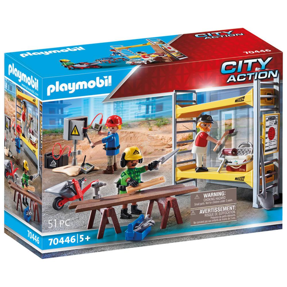 PLAYMOBIL City Action stelling met werklieden 70446