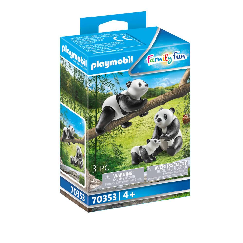 PLAYMOBIL Family Fun panda's met baby 70353