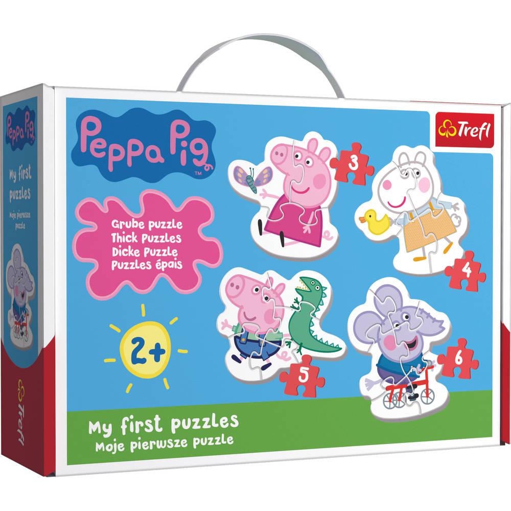 Mijn eerste puzzels Lovely Peppa Pig puzzelset - 3 + 4 + 5 + 6 stukjes