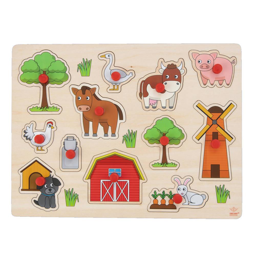 Knopjespuzzel boerderij - 30 x 22,5 cm