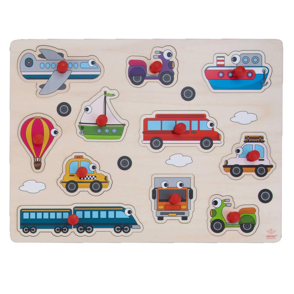 Knopjespuzzel voertuigen - 30 x 22,5 cm