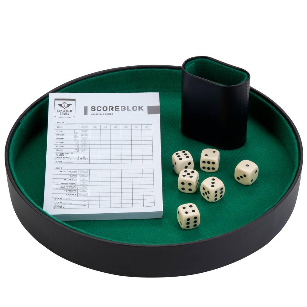 Pokerpiste dobbelset compleet - 26 cm