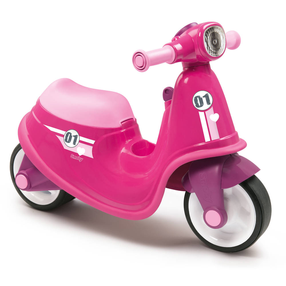 Smoby loopscooter - roze