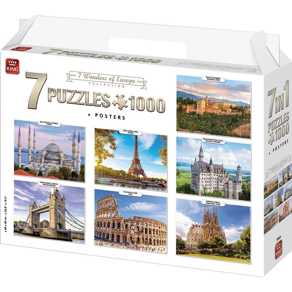 King International puzzel wonderen van Europa - 7 x 1000 stukjes