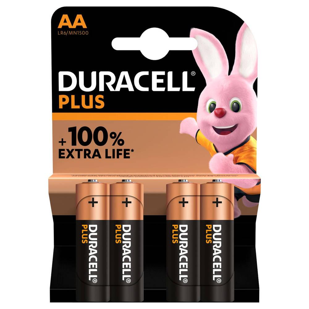Duracell Alka Plus AA-batterijen set 4-delig