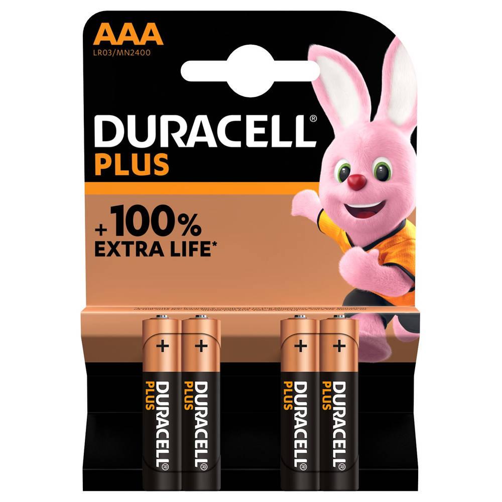 Duracell Alka Plus AAA-batterijen set 4-delig