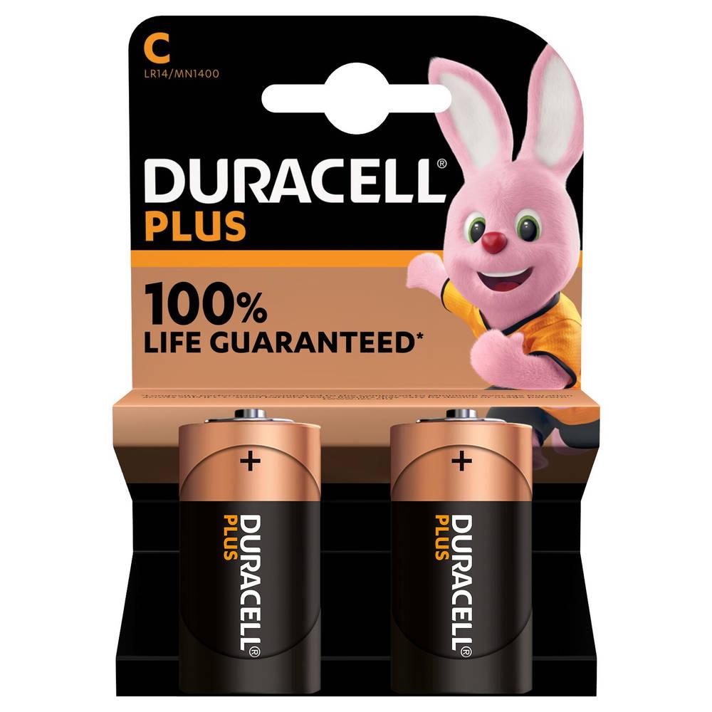 Duracell Alka Plus C-batterijen 2-delig