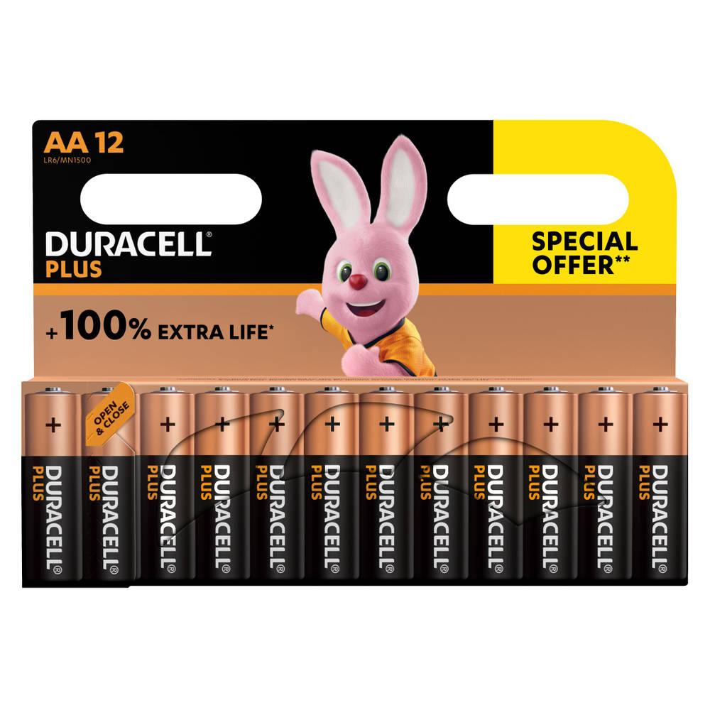 Duracell Alka Plus AA-batterijen set 12-delig