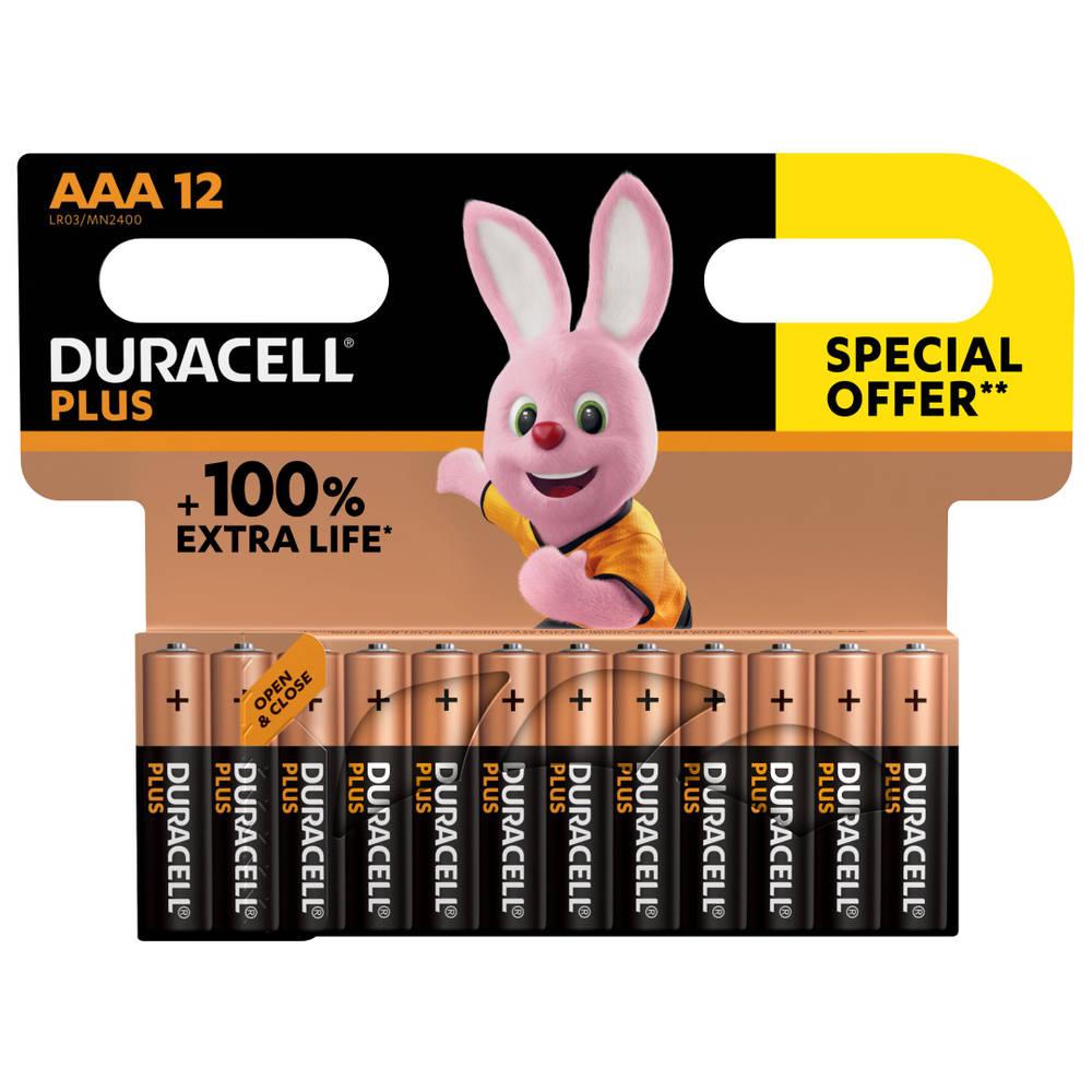 Duracell Alka Plus AAA-batterijen set 12-delig