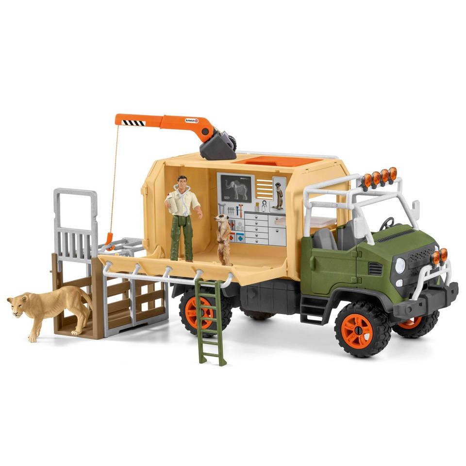 Schleich grote reddingswagen voor dieren 42475