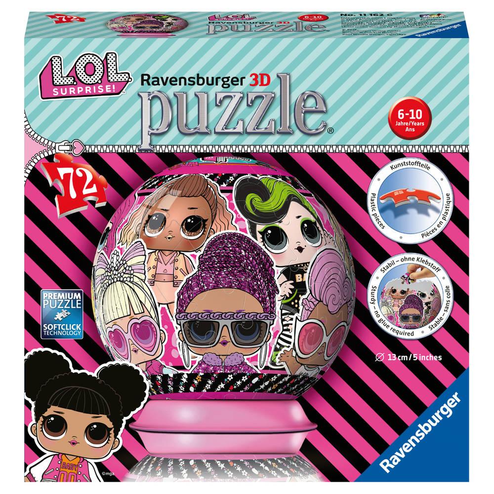 Ravensburger L.O.L. Surprise 3D-puzzelbal - 72 stukjes